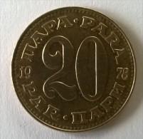 Monnaie -  Yougoslavie - 20 Para 1978 - - Yougoslavie
