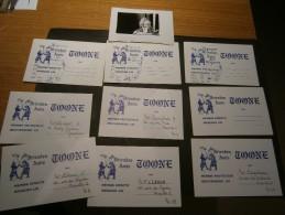 BRUXELLES THEATRE TOONE - 22 Cartes 1966 Membres Protecteurs Et Membres Effectifs+1photo+annonce 4Bossu Et 1Gelderod - Vieux Papiers