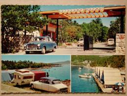 Peugeot 403, Citroen DS, Ami 6, Fiat 600, Caravane, Camping Ostro, Kraljevica - Voitures De Tourisme