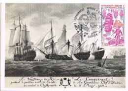 16286. Tarjeta Maxima PARIS 1980. Rochambeau Arrive A Newport. Barcos, Bateaux - Cartas Máxima