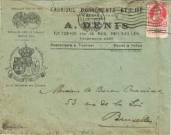 16289. Carta BRUSSEL (Belgien) 1919. Comercial Fabrique Ornament D'Eglise - Bélgica