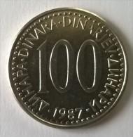 Monnaie -  Yougoslavie - 100 Dinara 1987 - Superbe- - Yougoslavie