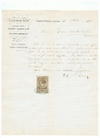 JG BIDEAU & Cie  ANCIENNE SOCIETE  BARBIER DAUBREE & Cie à CLERMONT FERRAND Le 06 08 1883 - France