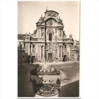 MCATP9557ACPA-LFTD3159TARIC.Tarjeta Postal DE MURCIA.Edificios,arboles.FRENTE DE LA CATEDRAL DE MURCIA - Iglesias Y Catedrales