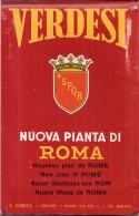 ROMA - Nouveau Plan (1961) De La Ville De Rome (Table Générale Des Rues - Lignes Des Tramways) - Cartes