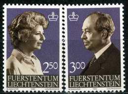 Liechtenstein - Michel 828 / 829 - ** Postfrisch (B) - 2.50-3.00Fr  Freimarken Fürst Und Fürstin - Ongebruikt