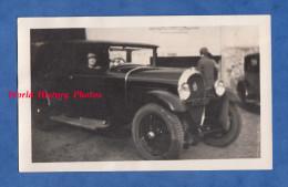 Photo Ancienne - Portrait D´une Belle Automobile HOTCHKISS Conduite Par Une Femme - TOP - Cars