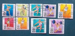 """FJ005- FUJERA - 1968 - """" Serie Olimpiadi Di Città Del Messico """" Lotto 9 Valori Timbrati - Fujeira"""