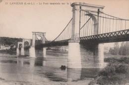 15 - Le Pont Suspendu Sur La Loire - Langeais