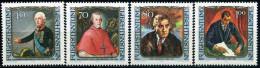 Liechtenstein - Michel 839 / 842 - ** Postfrisch (B) - Gemälde Berühmter Gäste III - Liechtenstein