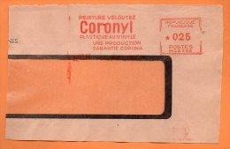VALENCIENNES PEINTURE VELOUTEE PLASTIQUE  AU VINYLE   1960 Devant De Lettre N° EMA 2636 - Marcophilie (Lettres)