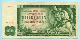 Cecoslovacchia 100 Corone 1961 -BB - Cecoslovacchia