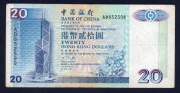 HONG KONG 20 DOLLARS 1994 -BB - Hong Kong