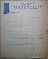 FATTURA PUBBLICITA DITTA PIERI ORESTE GIà GALASSI IMPIANTI TERMOSIFONI IDRAULICI PISTOIA ANNO 1940 - Italia