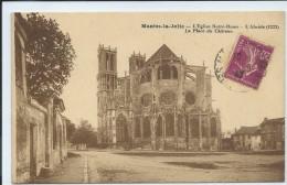 Mantes-la-Jolie-L'Église Notre-Dame-L'Abside-La Place Du Château-(SÉPIA). - Mantes La Jolie