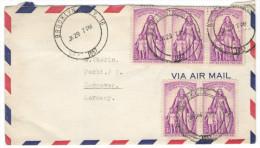 STATI UNITI - UNITED STATES - USA - US - 1957 - Airmail - 5 X 3c Polio - Viaggiata Da Brooklyn, New York Per Hannover... - Vereinigte Staaten