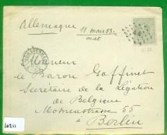 POSTHISTORIE * BRIEFOMSLAG Uit 1883 Van 's-GRAVENHAGE Naar BERLIN * NVPH 21 * PUNTSTEMPEL 44   (10.211) - Period 1852-1890 (Willem III)