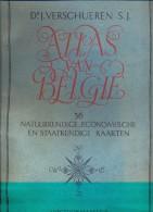 Atlas Van Belgie - 36 Kaarten - Dr. J. Verschueren - Uitgave Standaard Boekhandel 1945 - Aardrijkskunde