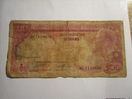 ----------1 Billet 500 DOBRAS 1977---S.TOME-et-PRINCIPE - Sao Tomé Et Principe