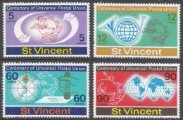 St Vincent. 1974 Centenary Of UPU. MNH Complete Set. SG 392-394 - St.Vincent (...-1979)