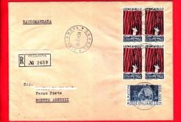 ITALIA - 1958 - FDC - Busta Primo Giorno Viaggiata Da Giulianova A Roseto - R. Leoncavallo - G. Puccini - Raccomandata - 6. 1946-.. Repubblica