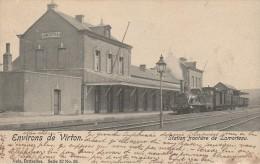 Station Frontière De Lamorteau Gare Train à Vapeur - Virton