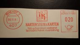 EMA AFS METER STAMP FREISTEMPEL - GERMANY 1964 SPIDER NET ARAIGNE TELA DI RAGNO INSECT TEXTIL - Araignées