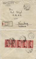 E447 Einschr. Brief Jugoslawien St. Belgrad N. Nürnberg - 1919-1929 Königreich Der Serben, Kroaten & Slowenen
