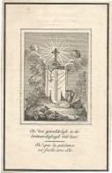 334. JOANNES-JOSEPHUS  PAQUAI    En Haar Dochter  VIRGINIA  NICOLAI  -  Beiden Overl. Te ST. TRUIDEN  1848 - Images Religieuses