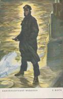 Kapitänleutnant Weddigen Auf U9, Marine Deutsches Kaiserreich, Künstler-Portrait, P. Rieth, Postkarte, Militär - Weltkrieg 1914-18
