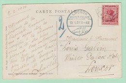 Th11. Carte Postale Egypte. Le NIL + Cachet D´HOTEL. LUQSOR  Winter Palace 10.2.21