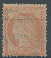 Lot N°30473 Variété/ N°38 Oblit Cachet à Date Bleu. C De 40C - 1870 Siege Of Paris