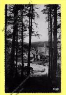 CPSM JAVOLS (48) - Vue Sur Le Bourg Au Travers Du Sous-bois 1957 - France