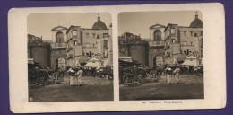 5138 Stereo Photo Italy Napoli Porta Capuana 180x87 Mm - Napoli