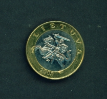 LITHUANIA  -  2008  2l  Circulated Coin - Lithuania