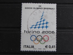ITALIA USATI 2002 - PREPARAZIONE GIOCHI OLIMPICI INVERNALI TORINO 2006 - SASSONE 2606 - RIF. G 2122 - LUSSO - 6. 1946-.. Repubblica