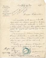 Lettre Du Maire D'Essuiles (Oise), 24/6/1889 à L'inspecteur D'académie De L'Oise - Historical Documents