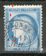 """N° 140°-type III_""""R"""" Sans Jambe_filet Perles Cassé + Griffe Sur Perles_voir Détails - 1871-1875 Ceres"""