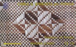 Tonga, TON-05, Textures Of Tonga, White & Brown - 2CTGB, 2 Scans - Tonga