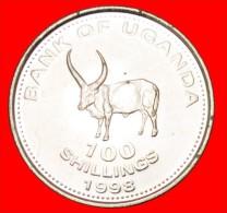 ★SUN & BULL: UGANDA★  100 SHILLINGS 1998! MINT LUSTER! LOW START★ NO RESERVE! - Ouganda