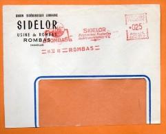 ROMBAS SIDELOR ACIERS MARCHANDS   1960 Devant De Lettre N° EMA 2558 - EMA (Printer Machine)