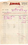 1953--MONTROUGE--Sopralim Pub AMORA (moutarde) - Food