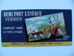 Etiquette Demi Pont-l'Evêque - La Normande - Fromagerie Courteille à Berville 14 - Calvados  A Voir ! - Cheese