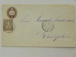 SUISSE / SCHWEIZ / SVIZZERA / SWITZERLAND // 1877, Entier Postal - Ganzsachen Brief + Zusatzfrank. 5Rp. Sitz. Helvetia - Storia Postale