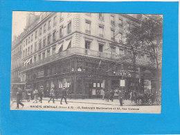 CPA  - PARIS - SOCIETE GENERALE - Bureau A R - 15 Boulevard Montmartre Et   53 Rue Vivienne - Paris (02)