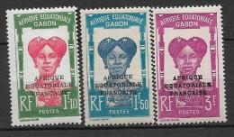 Gabon. 1928 N°118-120 N* - Unused Stamps