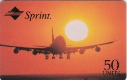 United States, Sprint Airline  2 Scans.  50 Units In Black, 2 Lines Bottom Right. Expiry.: 01/97 - Stati Uniti
