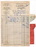 1953--PARIS 5° ---Halle Aux Vins--G.ALBAREL & Cie--Facture Transport De Vins(St Emilion,Montbazillac,Porto) Et Son Congé - Food