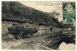 Environs D´Yvetot  - Travail Aux Champ - La Mise En Grange  - Beau Plan Charette Normande ..... Année 1925 - Equipaggiamenti