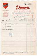 1953--PARIS 1°--DAMOY--vins,alcools,cafés,biscuits,confitures,petits Pois,moutardes---Facture + Livraison - Food